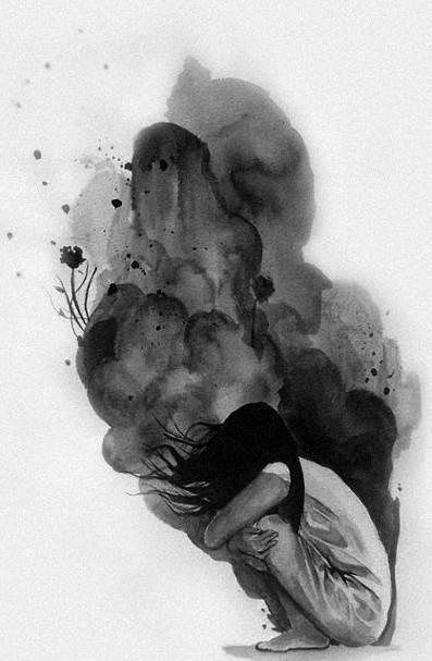 Эндогенная депрессия у женщины.