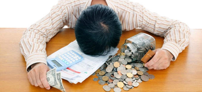 Депрессия из-за нехватки средств...