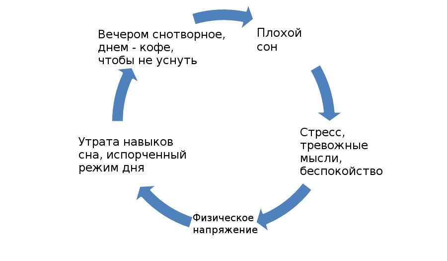 Порочный круг бессонницы.