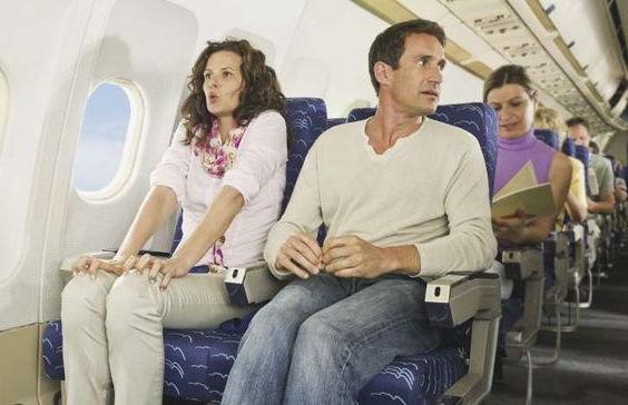 Типичный случай с приступом страха во время полета.